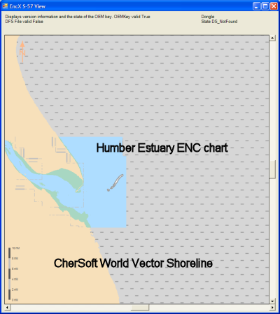 Zoomed out view of sample S-57/ENC data (Humber Estuary, UK)
